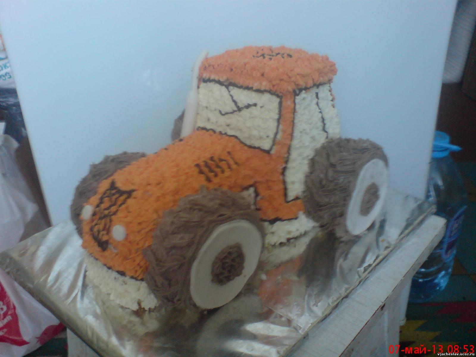 3 D торт Трактор. Как сделать 3D торт для мальчика 52